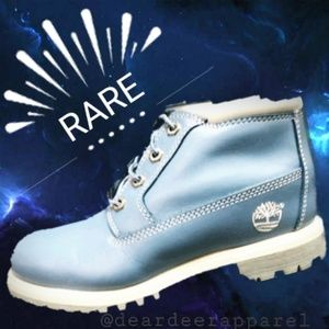 "RARE Baby Blue Timberland 6"" Boots- Size 7"